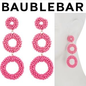 BAUBLEBAR Pink Capella Drop Earrings